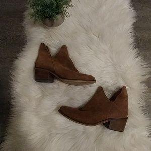 Zara Trafaluc Suede Cutout Bootie